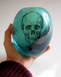 Drawing in glass